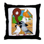 Five Pigeons Throw Pillow