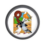 Five Pigeons Wall Clock