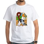 Five Pigeons White T-Shirt