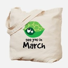 Turtle Pregnancy Due In March Tote Bag