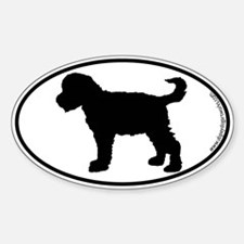 Schnoodle SILHOUETTE Oval Decal