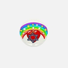Jewish Love Hearts Mini Button