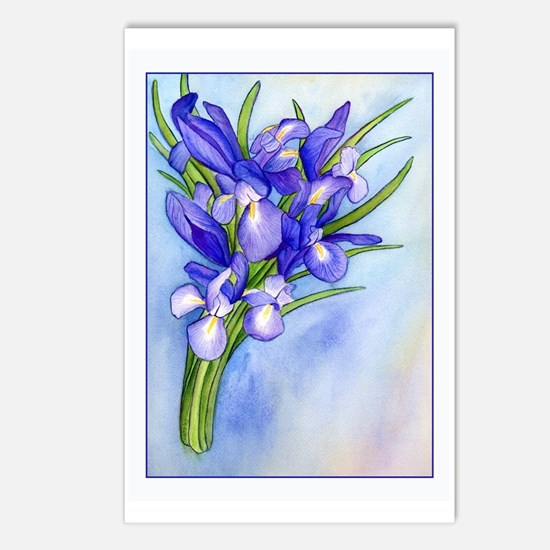 Iris Bouquet Postcards (Package of 8)