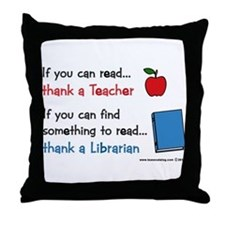 Teacher...Librarian Throw Pillow