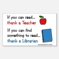 Teacher...Librarian Decal