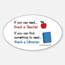 Teacher...Librarian Decal