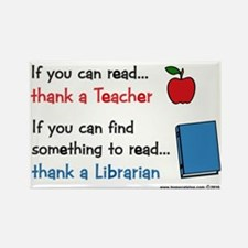Teacher...Librarian Rectangle Magnet (10 pack)
