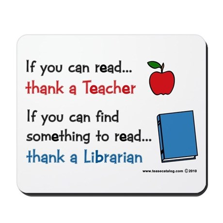 Teacher...Librarian Mousepad