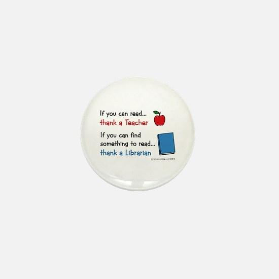 Teacher...Librarian Mini Button