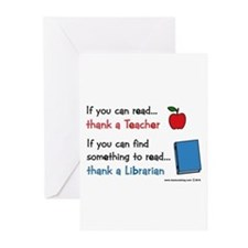 Teacher...Librarian Greeting Cards (Pk of 20)