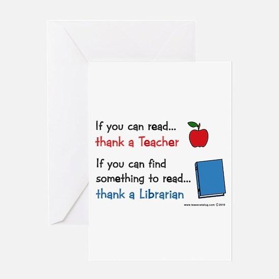 Teacher...Librarian Greeting Card