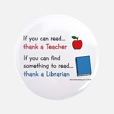 "Teacher...Librarian 3.5"" Button"