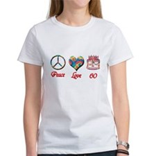 2-peace love 60 copy T-Shirt