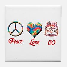 Unique Happy 60th birthday Tile Coaster