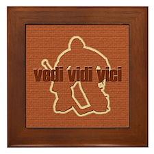 Vedi Vidi Vici Goaltender Framed Tile