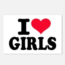 I love girls Postcards (Package of 8)