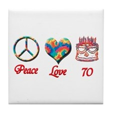 Cute Seventieth birthday Tile Coaster