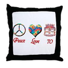 Cute Seventieth birthday Throw Pillow
