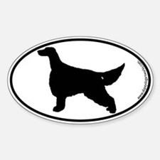 Irish Setter SILHOUETTE Oval Decal