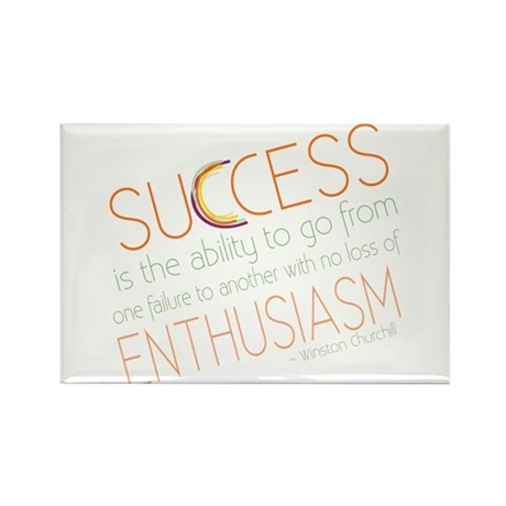 Success Inspiration Quote Rectangle Magnet (10 pac