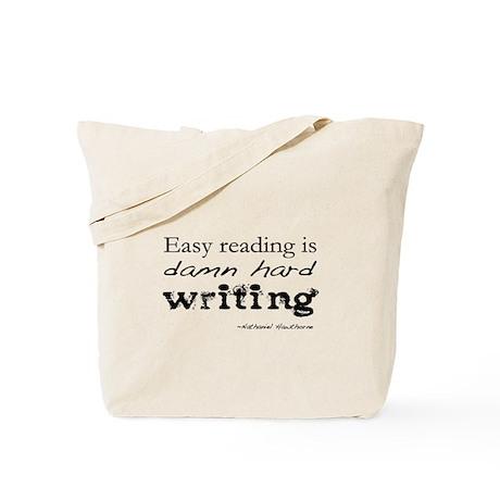 Writer Damn Hard Writing Author Tote Bag