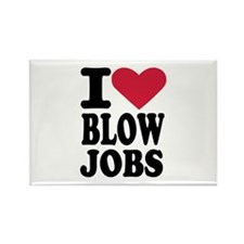 I love blowjobs Rectangle Magnet