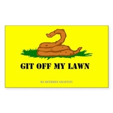 Git Off My Lawn Decal