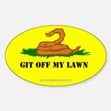 Git Off My Lawn Sticker (Oval)
