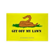 Git Off My Lawn Rectangle Magnet