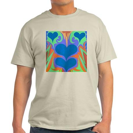 Angel Hearts Teal & WedgeWood Light T-Shirt
