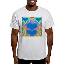 Angel Hearts Teal & WedgeWood T-Shirt