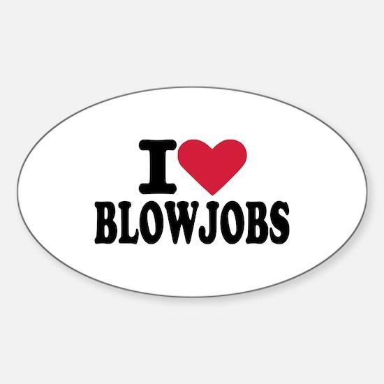 Blowjob Sticker (Oval)