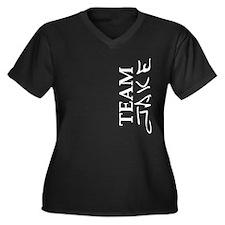 Team Jake Women's Plus Size V-Neck Dark T-Shirt
