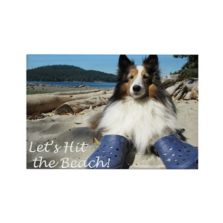 Let's hit the beach! Rectangle Magnet