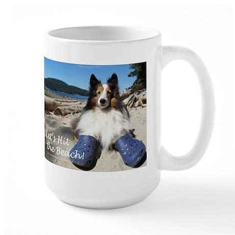 Let's hit the beach! Large Mug