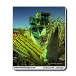 Farm Scene, Harvesting Corn, Iowa, Mousepad