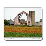 Iowa Barn, Hole in middle, falling barnMousepad