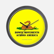 Bowel Movement Across America Wall Clock