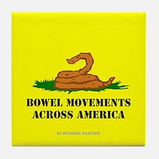 Bowel Movement Across America Tile Coaster