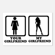 Your girlfriend my girlfriend Postcards (Package o