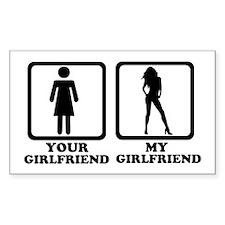 Your girlfriend my girlfriend Stickers