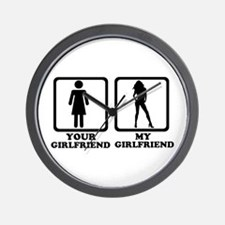 Your girlfriend my girlfriend Wall Clock