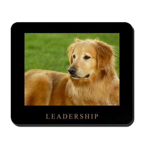 Golden Retriever Mousepad - Leadership