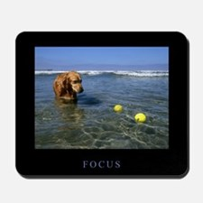 Golden Retriever Mousepad - Focus