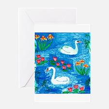 Sushila Burgess Swans Greeting Card