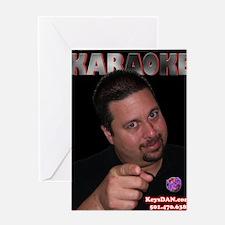 Karaoke Red Black Greeting Card