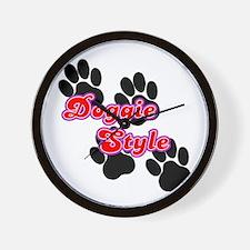 Doggie Style Wall Clock