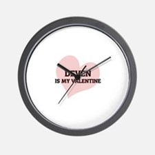 Deven Is My Valentine Wall Clock