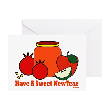 Jewish Sweet New Year Greeting Cards (Pk of 10)