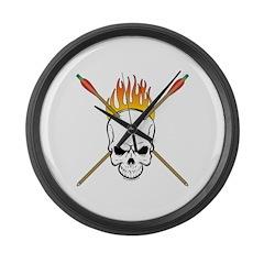 Skull Archery Large Wall Clock